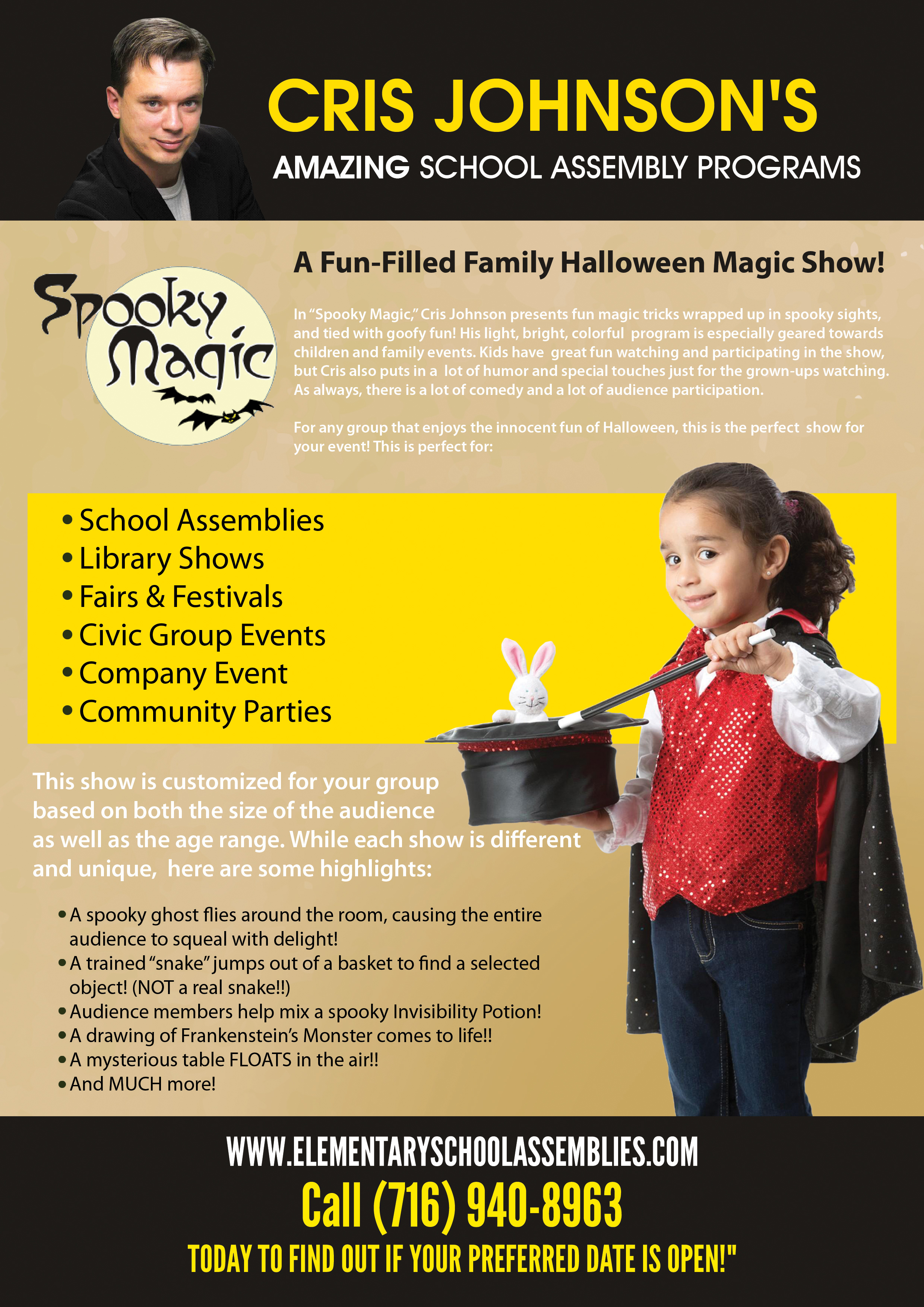 Halloween Magic Show - Amazing School Assembly Programs
