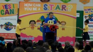 Yes I Can, character education assembly, character, elementary schoo, Cris Johnson