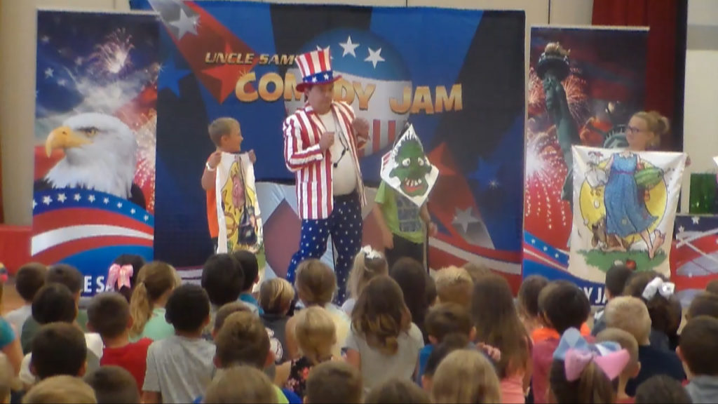 Cris Johnson, Uncle Sam Comedy Jam, American History School Assembly, School Assembly